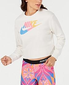 Women's Sportswear Print-Logo Cropped Sweatshirt
