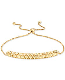 Effy Oro by EFFY® Gold-Bead Bar-Style Bolo Bracelet in 14k Gold