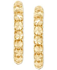 Effy Oro by EFFY® Hollow Bead Hoop Earrings in 14k Gold