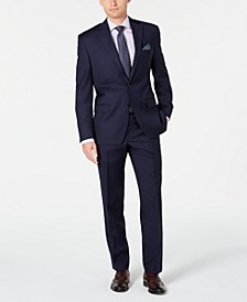Men's Classic-Fit UltraFlex Stretch Navy Solid Suit Separates