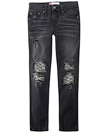 Big Boys Destructed Stretch Jeans
