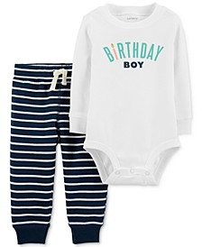 Baby Boys Cotton 2-Pc. Bodysuit & Jogger Pants Set