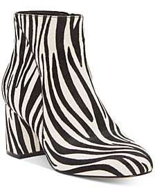 INC Floriann Block Heel Bootie, Created for Macy's