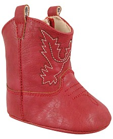 Baby Deer Baby Unisex Western Boot with Embroidery and Piping