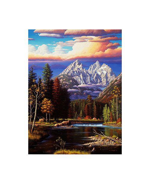 "Trademark Global R W Hedge Perfect Harmony Mountains Canvas Art - 15.5"" x 21"""