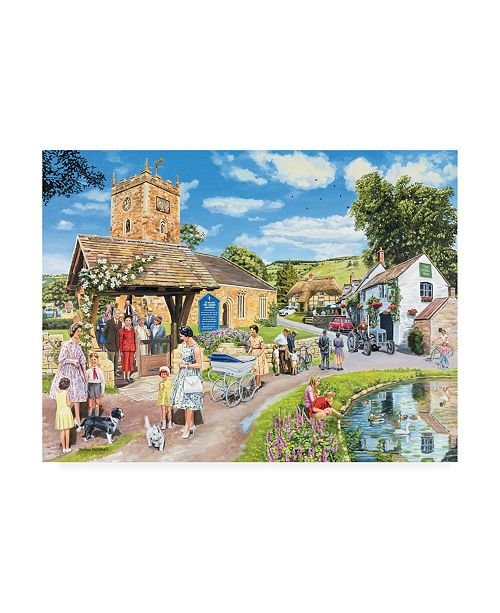 "Trademark Global Trevor Mitchell Sunday Service Canvas Art - 15.5"" x 21"""