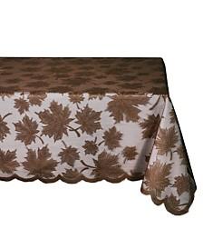 "Design Imports Maple Leaf Lace Table Cloth 54"" x 72"""