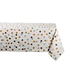 """Metallic Confetti Tablecloth 60"""" x 84"""""""