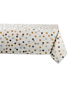 "Design Imports Metallic Confetti Tablecloth 60"" x 84"""
