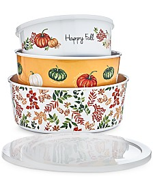 Martha Stewart Collection Nesting Containers & Lids, Set of 3, Created for Macy's