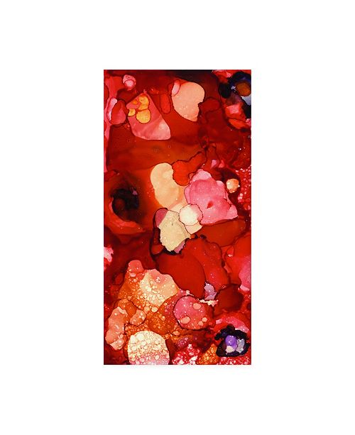 """Trademark Global Pat Saunders-White Into the Reds Canvas Art - 36.5"""" x 48"""""""