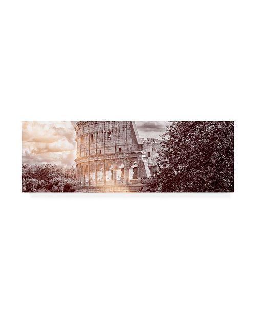 "Trademark Global Philippe Hugonnard Dolce Vita Rome 2 Colosseum Roma V Canvas Art - 36.5"" x 48"""