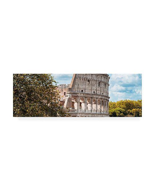 "Trademark Global Philippe Hugonnard Dolce Vita Rome 2 Colosseum Roma VII Canvas Art - 27"" x 33.5"""