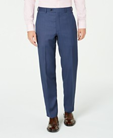 Lauren Ralph Lauren Men's Classic-Fit UltraFlex Stretch Blue Birdseye Suit Separate Pants