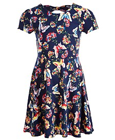 Epic Threads Little Girls Butterfly-Print Bow Back Dress, Created for Macy's
