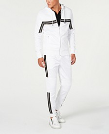 I.N.C. Road Stripe Zip-Front Hoodie & Jogger Pants, Created for Macy's