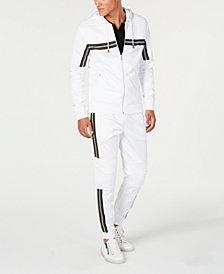 I.N.C. Road Stripe Zip-Front Hoodie & Jogger Pants, Created for Macy's