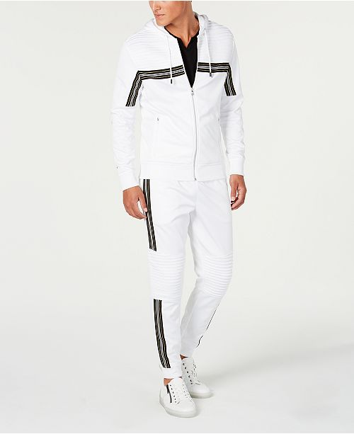 INC International Concepts I.N.C. Road Stripe Zip-Front Hoodie & Jogger Pants, Created for Macy's