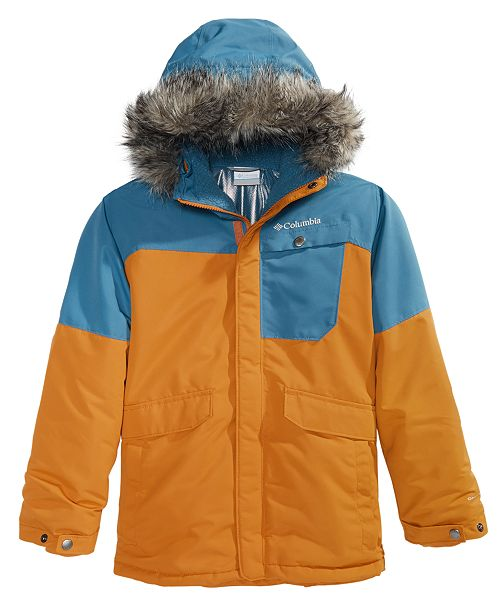 Columbia Big Boys Nordic Strider Hooded Jacket With Faux-Fur Trim