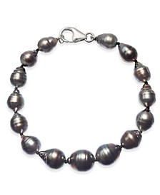 Baroque Black Tahitian Pearl (8 - 11mm) Graduated Bracelet