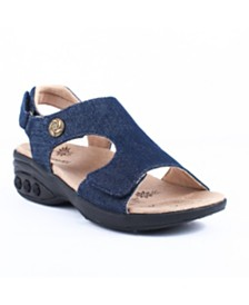 Therafit Shoe Cassandra Adjustable Strap Wedge Sandal
