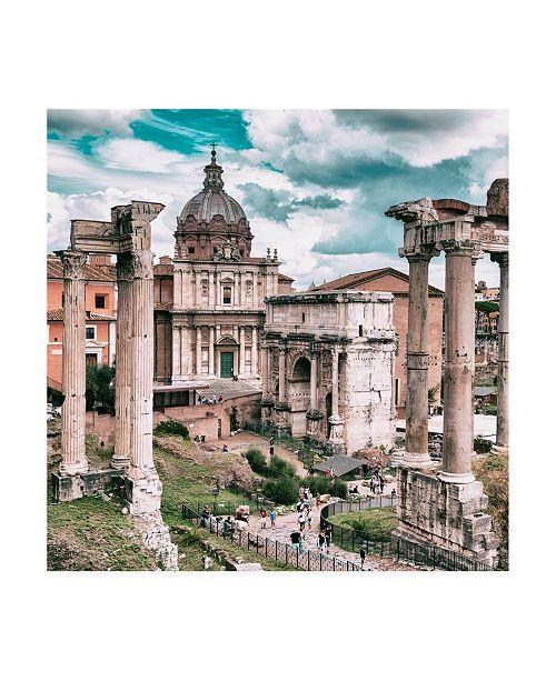 "Trademark Global Philippe Hugonnard Dolce Vita Rome 3 Roman Columns Rome VI Canvas Art - 19.5"" x 26"""