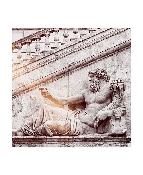 "Trademark Global Philippe Hugonnard Dolce Vita Rome 3 Roman Statue IV Canvas Art - 36.5"" x 48"""