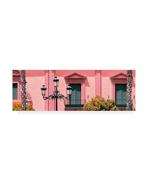 """Trademark Global Philippe Hugonnard Made in Spain 2 Spanish Pink Architecture Canvas Art - 36.5"""" x 48"""""""