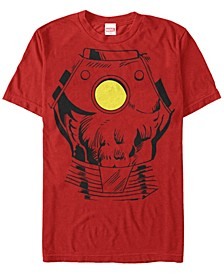 Men's Avengers Assemble Iron Man Suit Costume Short Sleeve T-Shirt