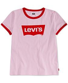 Levi's® Big Girls Retro Ringer Cotton T-Shirt