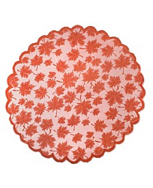Design Imports Maple Leaf Lace Table Topper