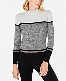 Ribbed Mock-Neck Cotton Sweater, Created for Macy's