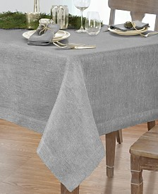 "Villeroy & Boch La Classica Luxury Metallic Linen Fabric Tablecloth, 70""x146"""