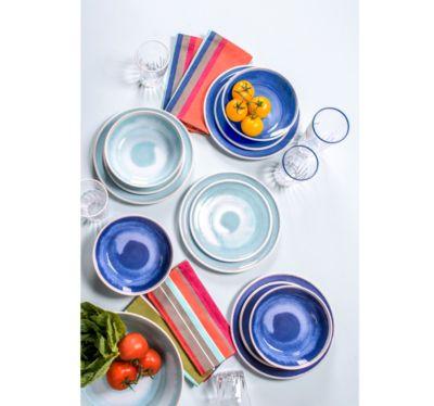 Raku Blue Bowl, Set of 4