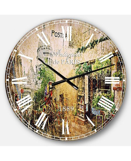 Designart Contemporary Oversized Round Metal Wall Clock