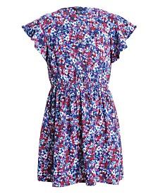 Tommy Hilfiger Baby Girls Floral-Print Challis Dress