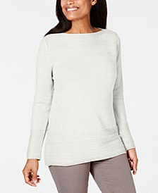 Cotton Boat-Neck Sweater, Created for Macy's