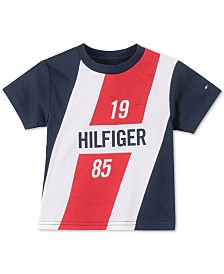 Tommy Hilfiger Baby Boys Logo-Print Cotton T-Shirt