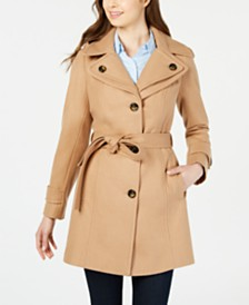 London Fog Double Collar Hooded Peacoat