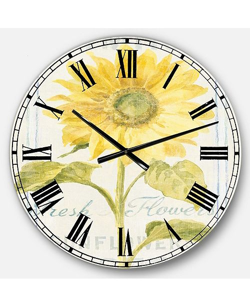 Designart Cottage Oversized Metal Wall Clock