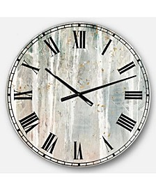 Modern Farmhouse Oversized Metal Wall Clock