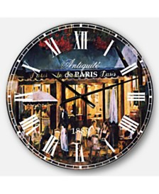 Designart French Country Oversized Metal Wall Clock