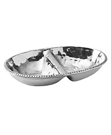 Wilton Armetale River Rock Divided Oval Dish