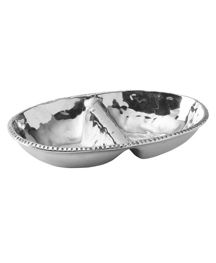 Wilton Armetale - River Rock Divided Oval Dish