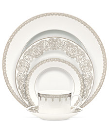 Waterford Lismore Lace Platinum 5 Piece Place Setting