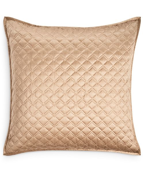 Hotel Collection Deco Embroidery Quilted European Sham, Created for Macy's