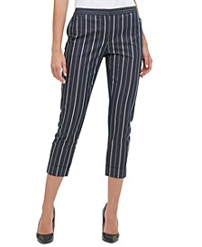 Striped Cropped Pants