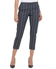 Tommy Hilfiger Striped Cropped Pants