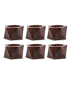 Wood Triangle Napkin Ring, Set of 6