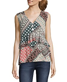 John Paul Richard Printed Sleeveless Blouse, Petite